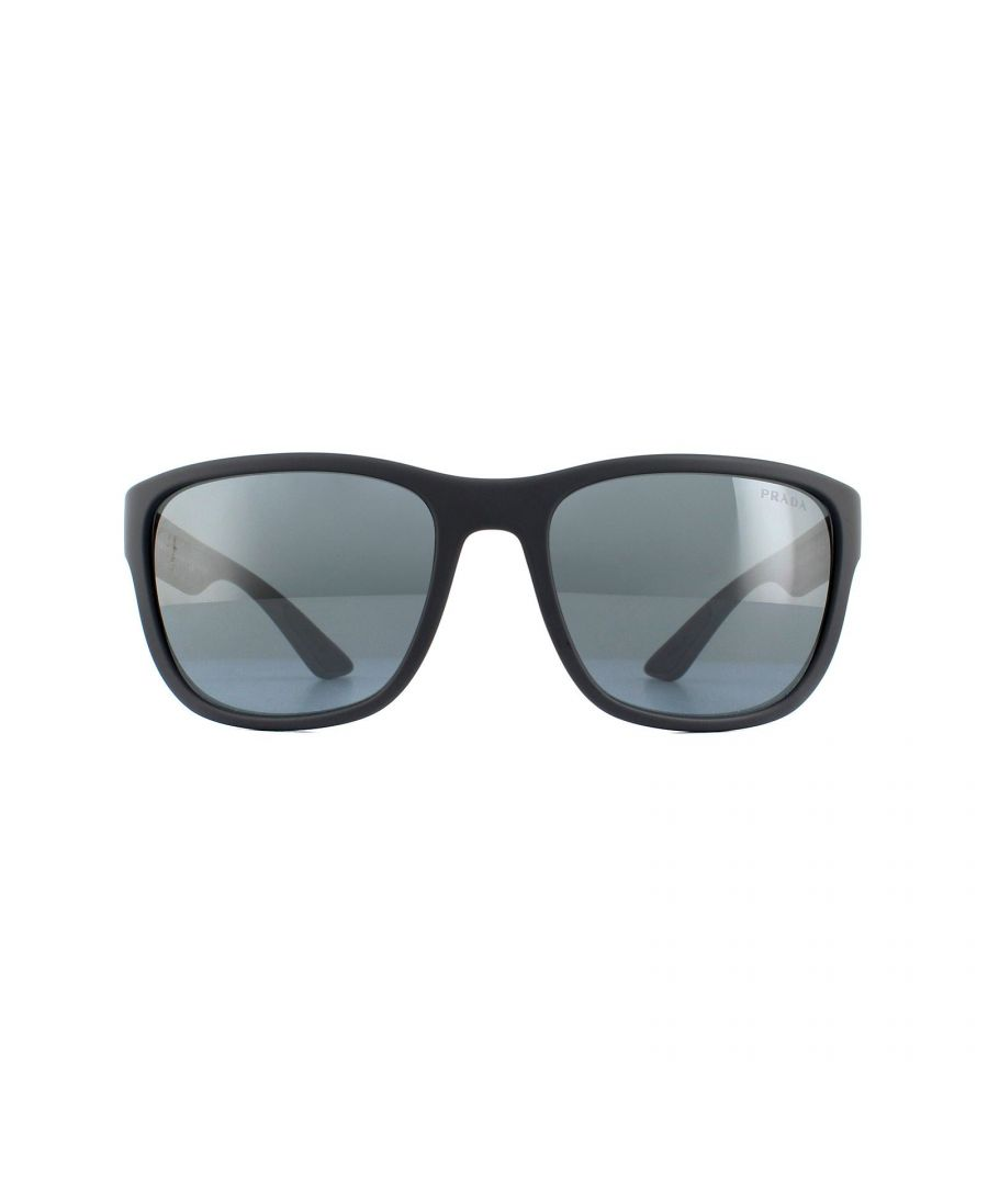 Image for Prada Sport Sunglasses PS01US UFK5L0 Grey Rubber Dark Grey Mirror
