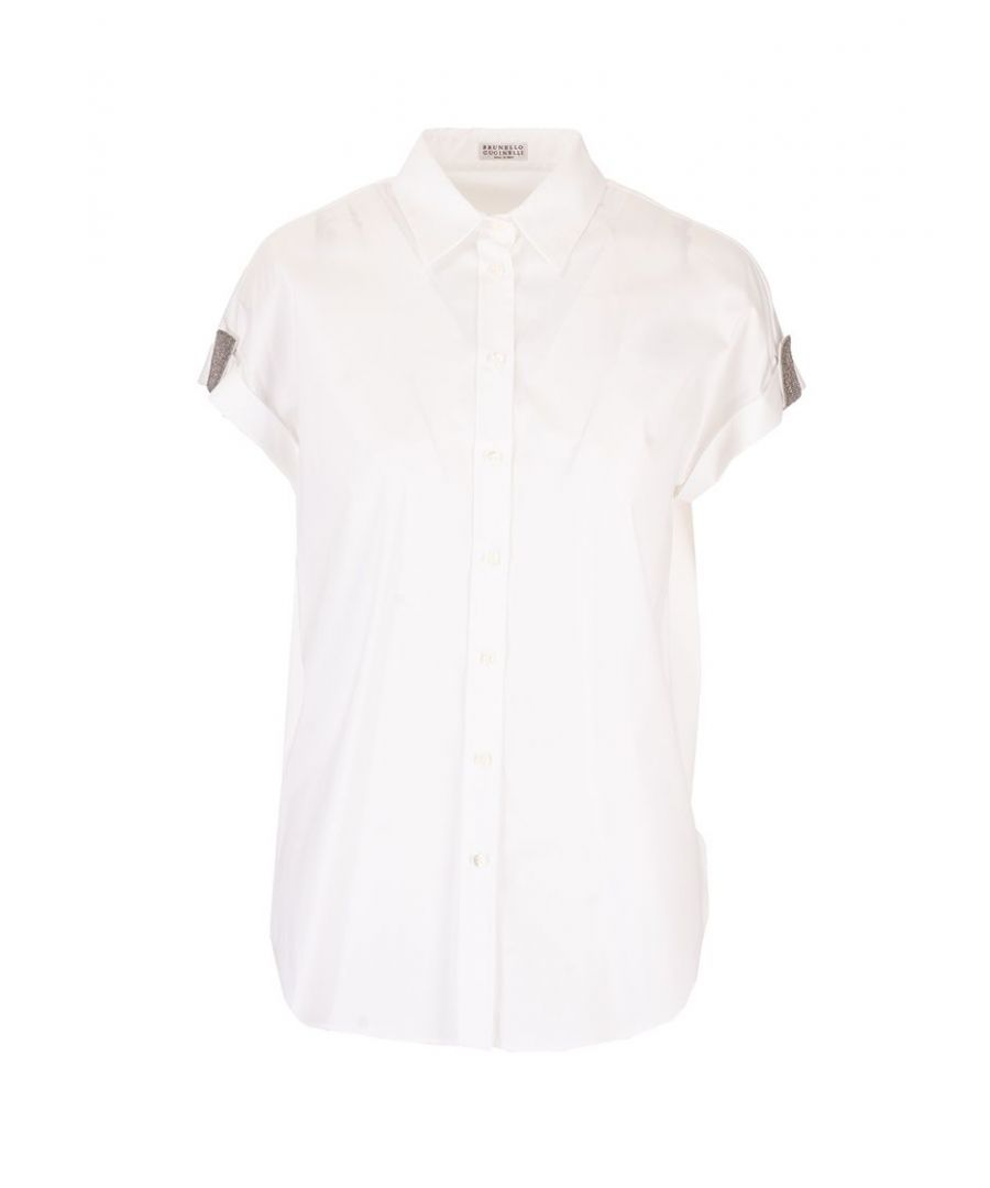 Image for BRUNELLO CUCINELLI WOMEN'S M0091NH716C159 WHITE COTTON SHIRT
