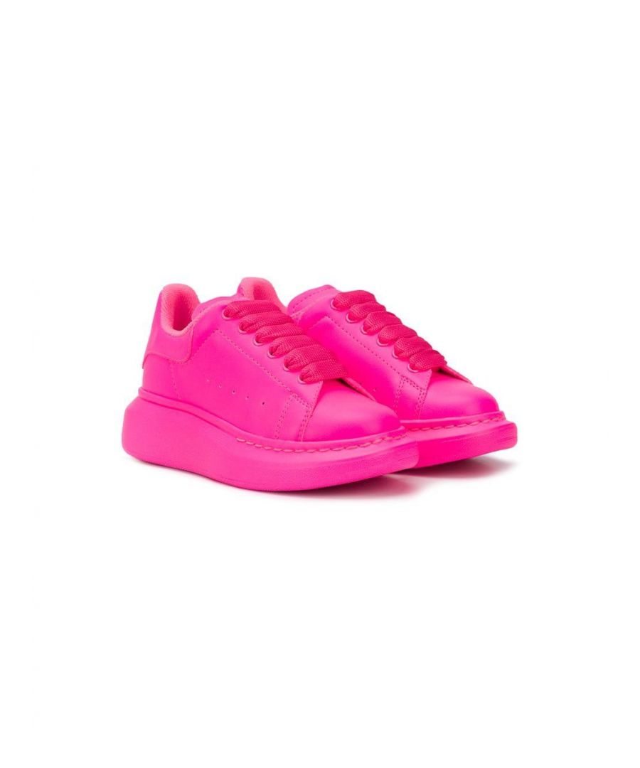 Image for ALEXANDER MCQUEEN GIRLS 612095W4M515452 FUCHSIA LEATHER SNEAKERS