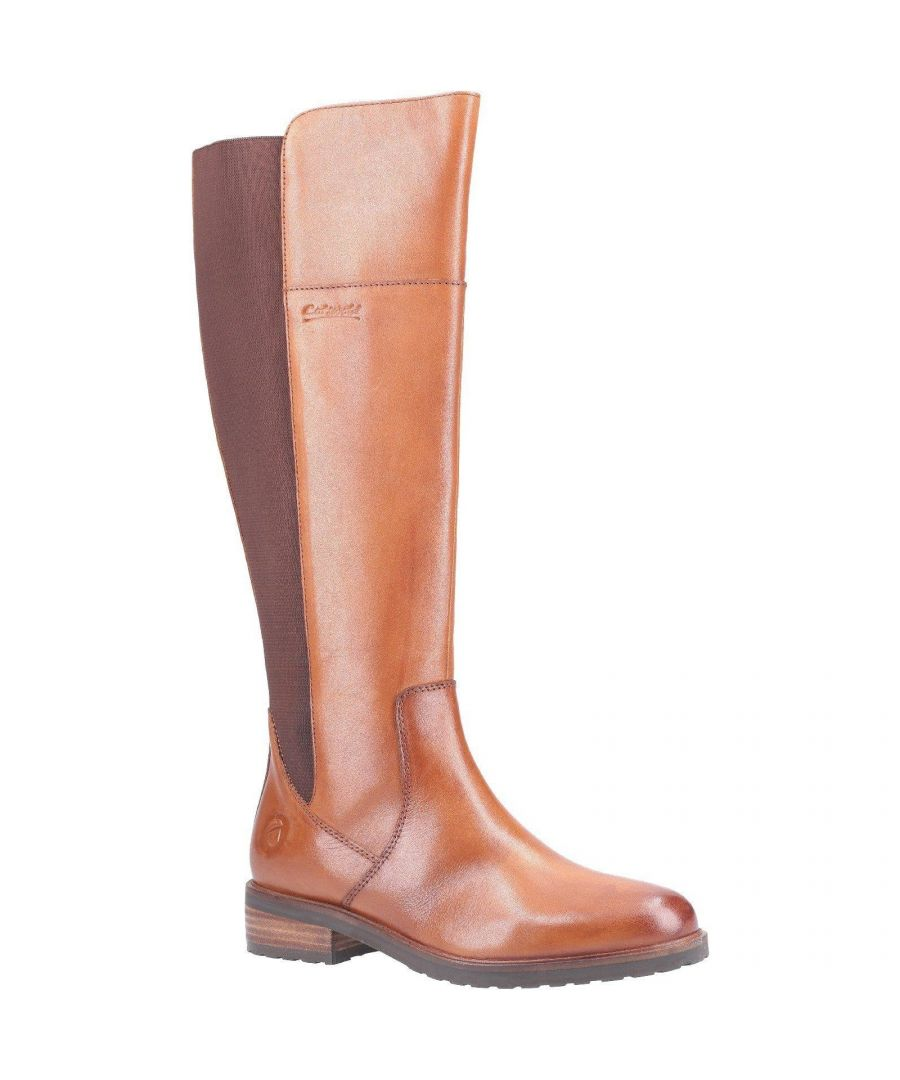 Image for Cotswold Womens/Ladies Montpellier Long Leather Boot (Tan)