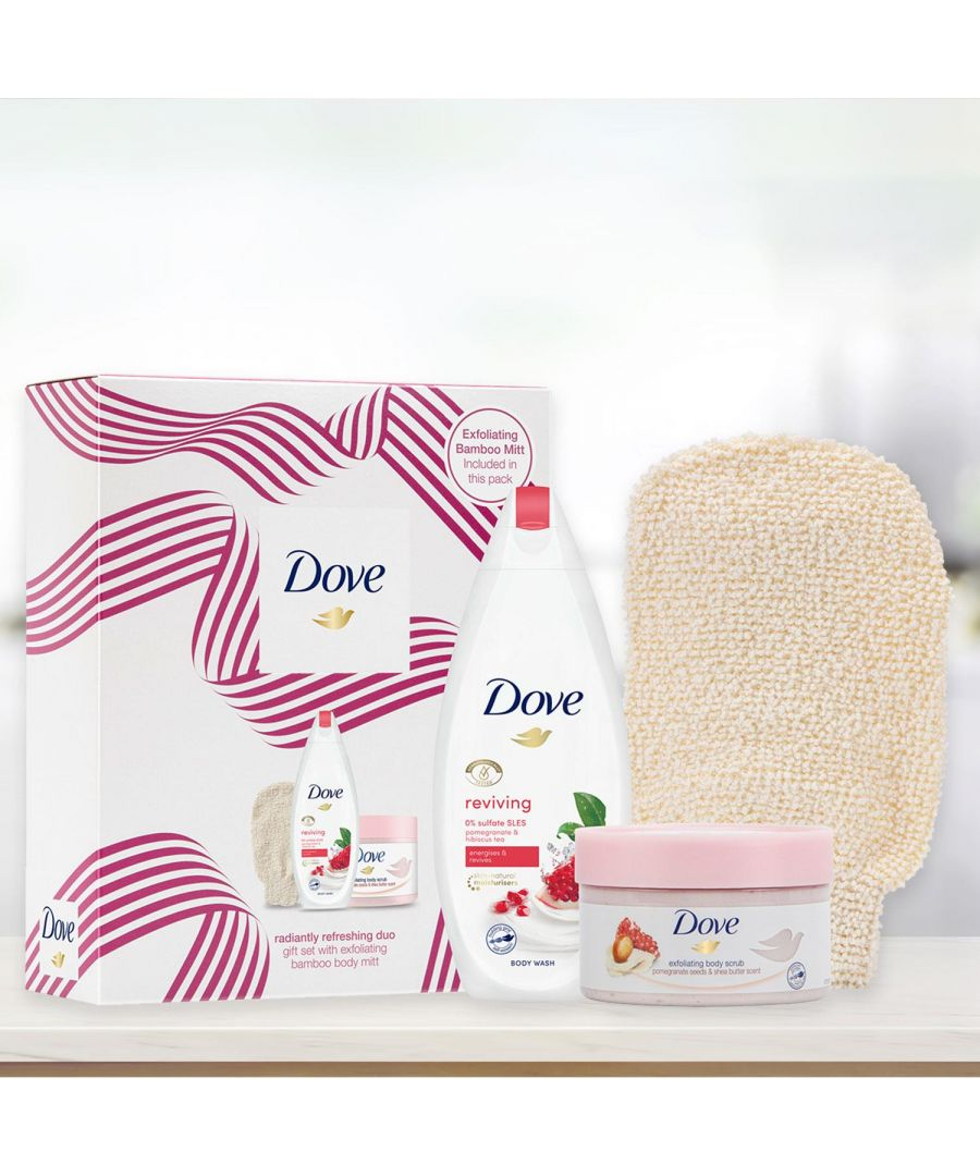 Image for Dove Radiantly Refreshing Duo Gift Set With Bamboo Body Mitt