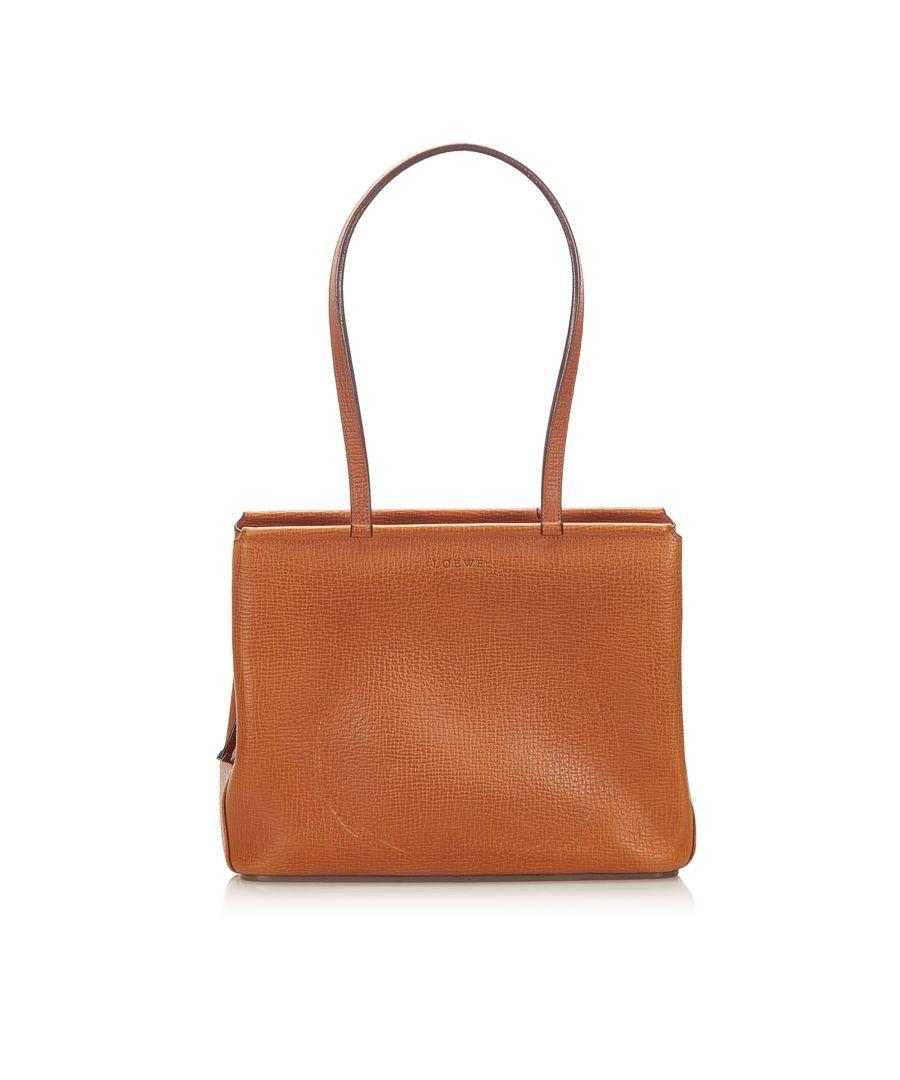 Image for Vintage Loewe Leather Shoulder Bag Brown