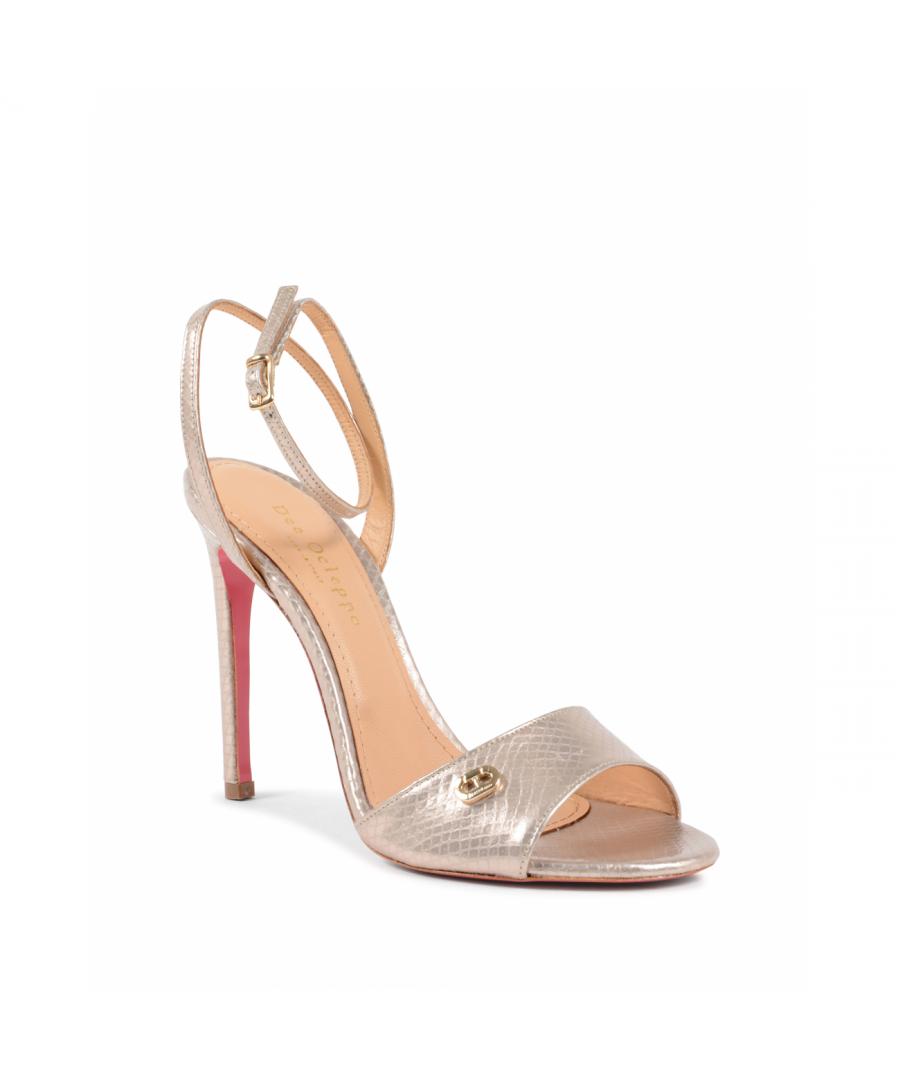 Image for Dee Ocleppo Women's Ankle Strap Sandal Beige 302 STAMP. PITONE BEIGE