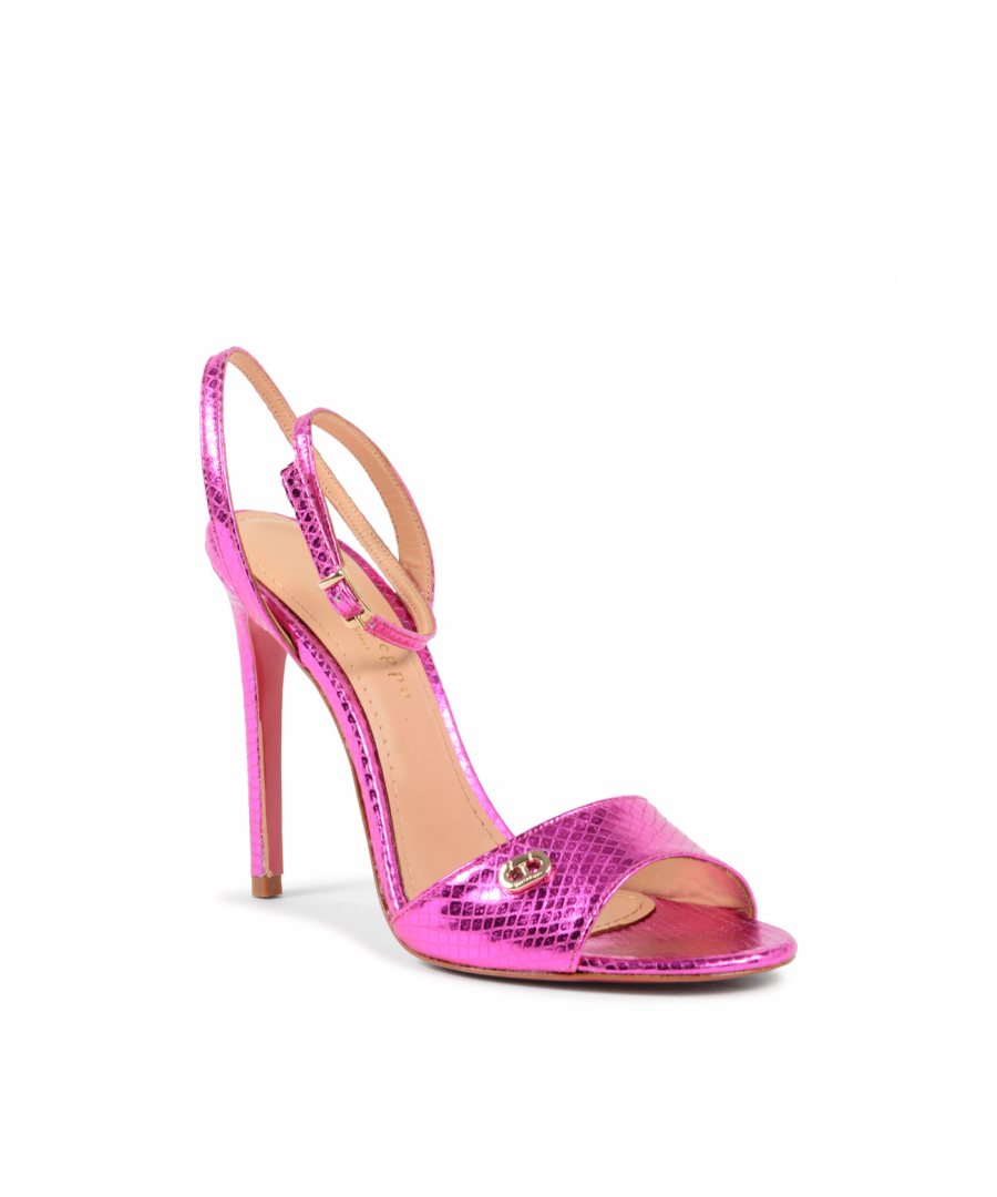 Image for Dee Ocleppo Women's Ankle Strap Sandal Fuxia 302 STAMP. PITONE FUXIA