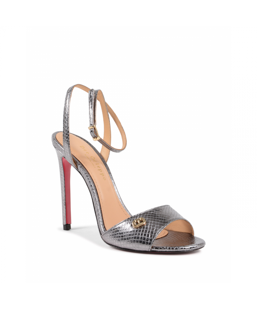 Image for Dee Ocleppo Women's Ankle Strap Sandal Silver 302 STAMP. PITONE SILVER