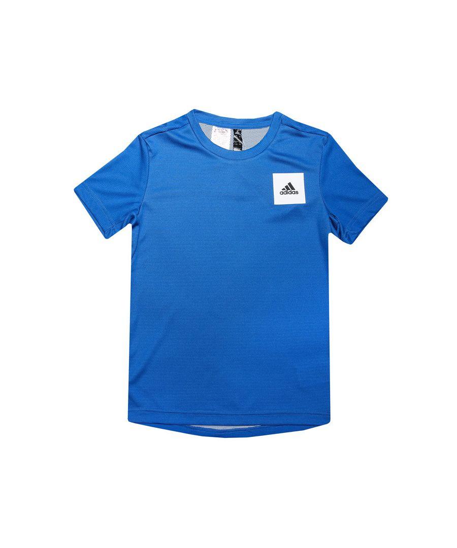 Image for Boys' adidas Junior AEROREADY T-Shirt Blue-White