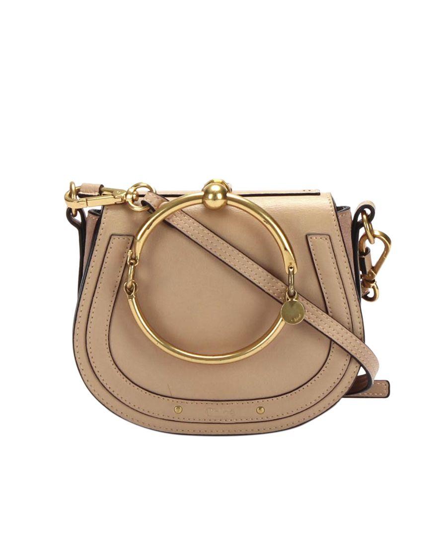 Image for Vintage Chloe Nile Leather Satchel Brown