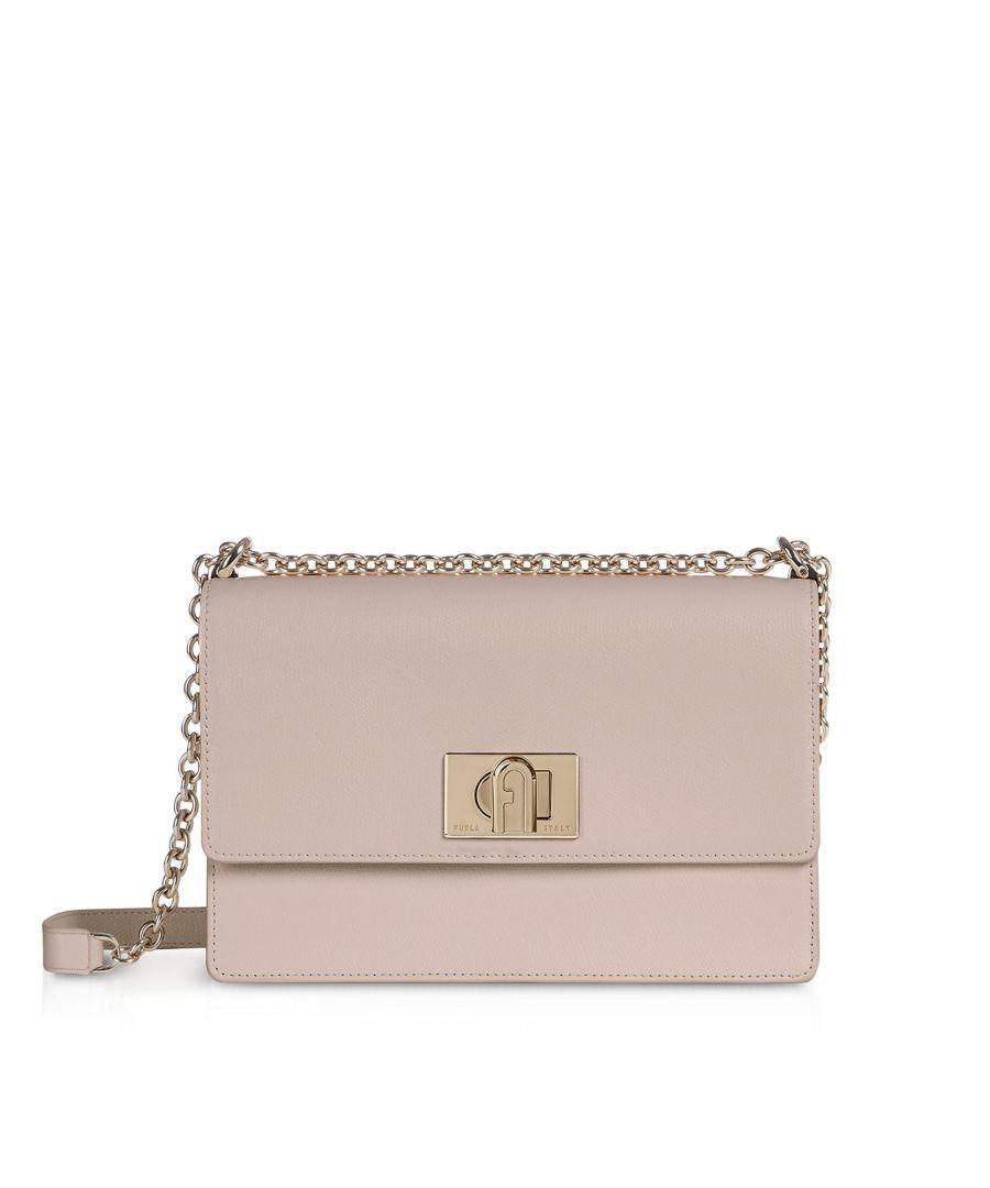 Image for FURLA WOMEN'S 1064049 PINK LEATHER SHOULDER BAG