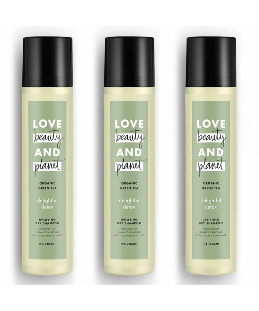 Image for Love Beauty & Planet Delightful Detox Organic Green Tea Dry Shampoo 245ml (Pack of 3)