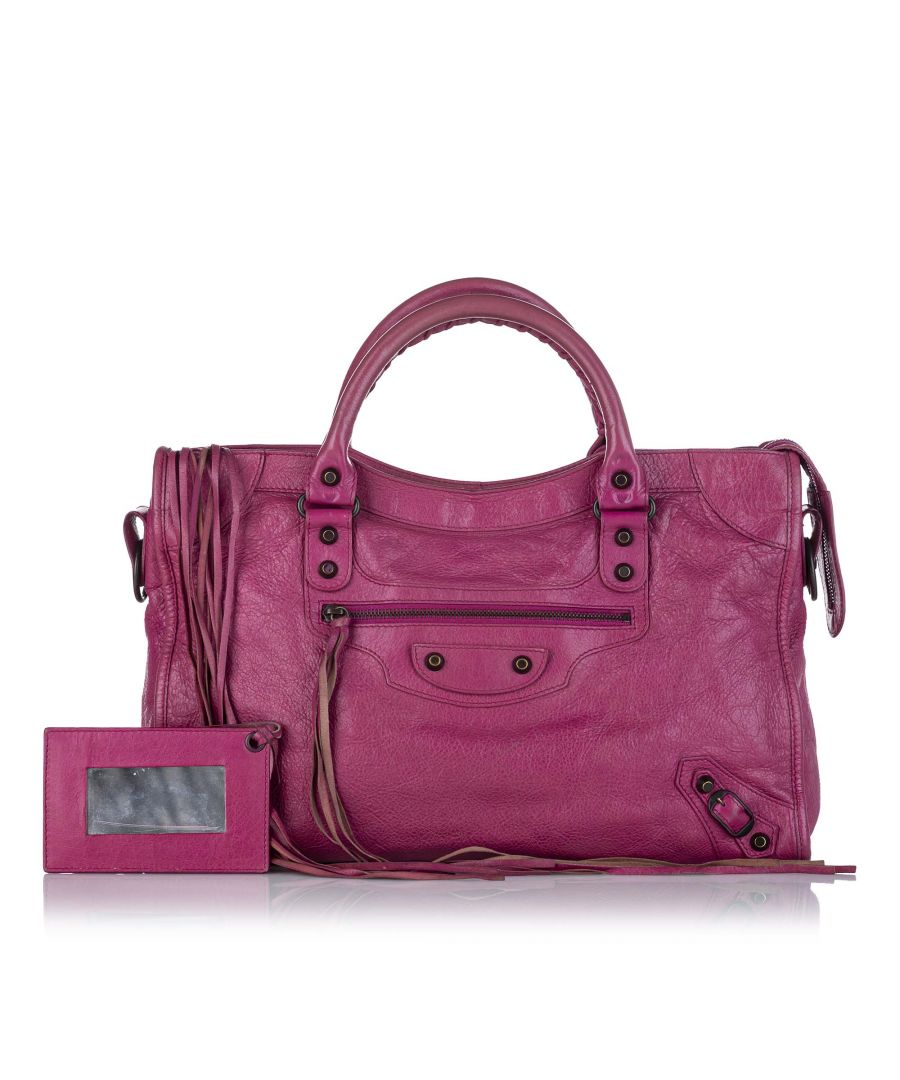 Image for Vintage Balenciaga Motocross City First Lambskin Leather Satchel Pink