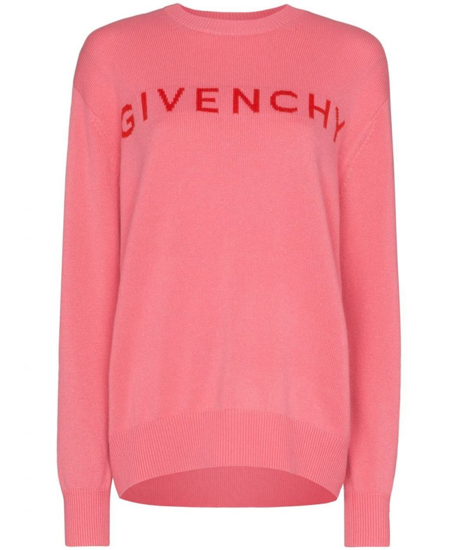 Image for GIVENCHY WOMEN'S BW909K4Z6S910 PINK CASHMERE SWEATER