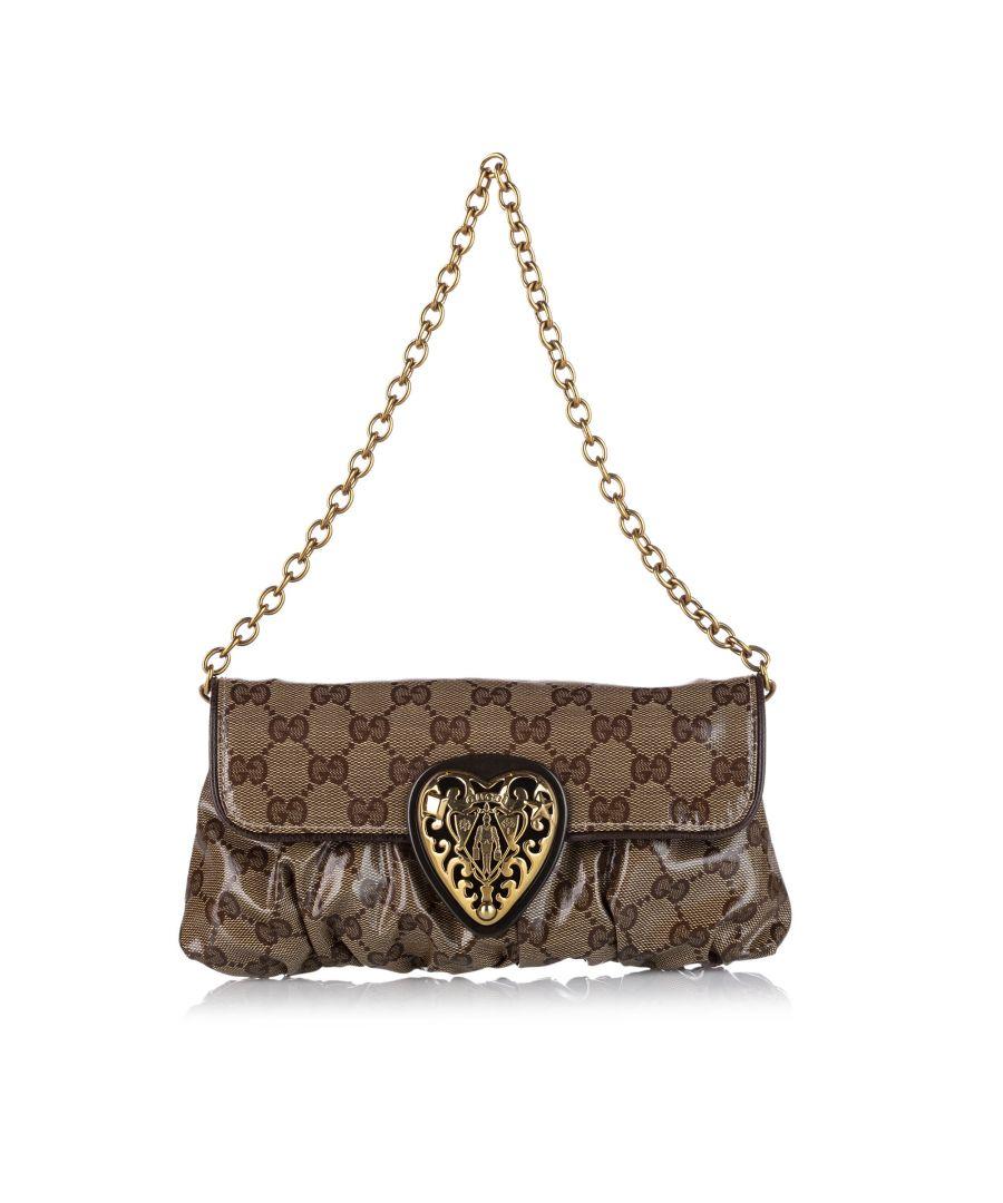 Image for Vintage Gucci GG Crystal Babouska Baguette Brown