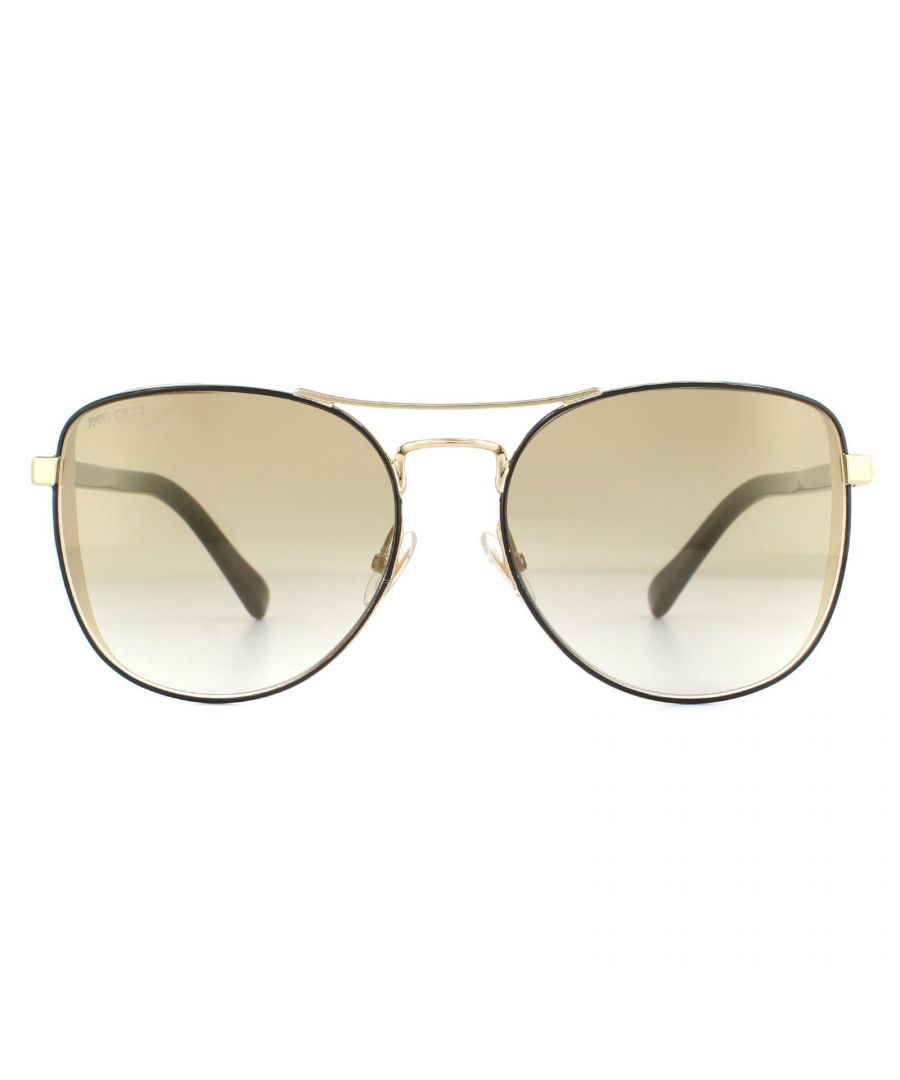 Image for Jimmy Choo Sunglasses Sheena/S 2M2 JL Black and Gold Gradient Brown Mirror