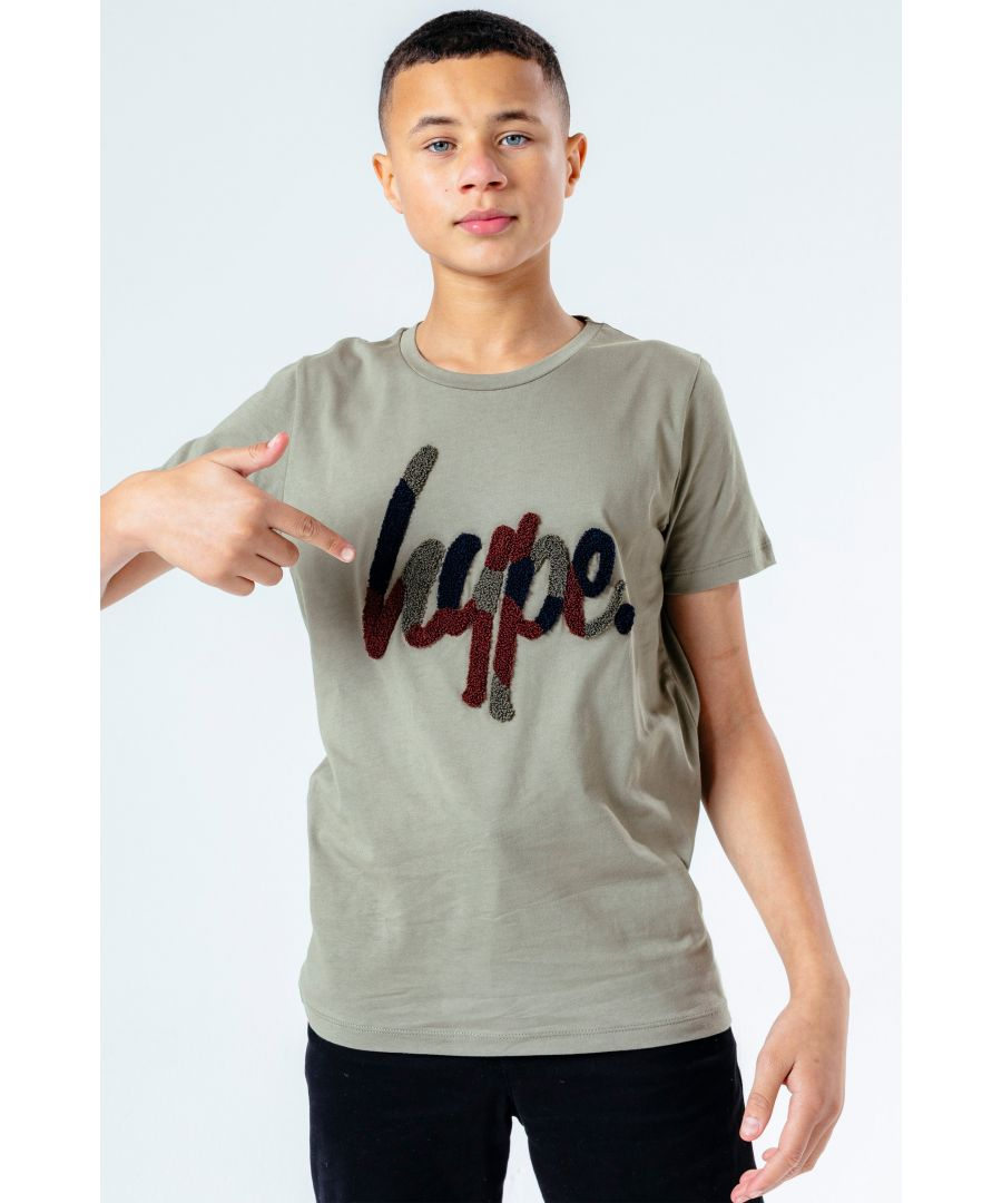 Image for Hype Camo Flock Script Kids T-Shirt