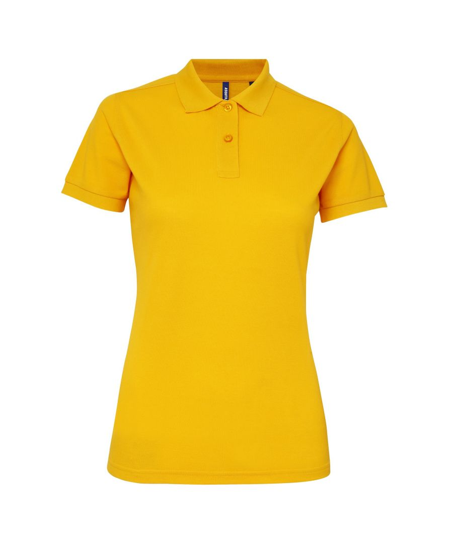 Image for Asquith & Fox Womens/Ladies Short Sleeve Performance Blend Polo Shirt (Sunflower)