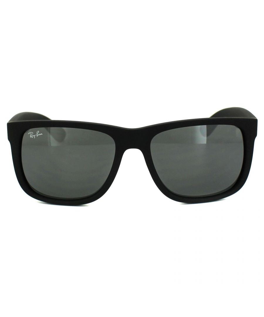 Image for Ray-Ban Sunglasses Justin 4165 622/6G Rubber Black Grey Mirror 51mm