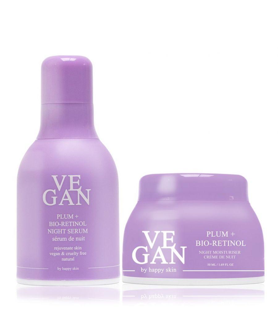 Image for PLUM + BIO-RETINOL night cream 50ml + PLUM + BIO-RETINOL serum 30ml