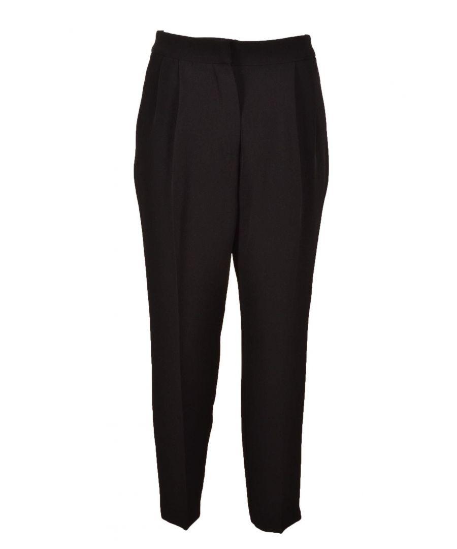Image for TWENTY EASY BY KAOS WOMEN'S CO00700 BLACK COTTON PANTS