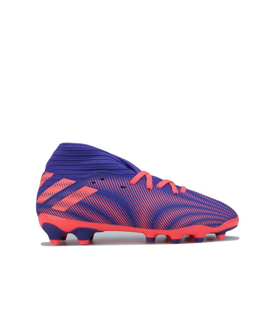 Image for Boy's adidas Junior Nemeziz.3 MG Football Boots in Purple