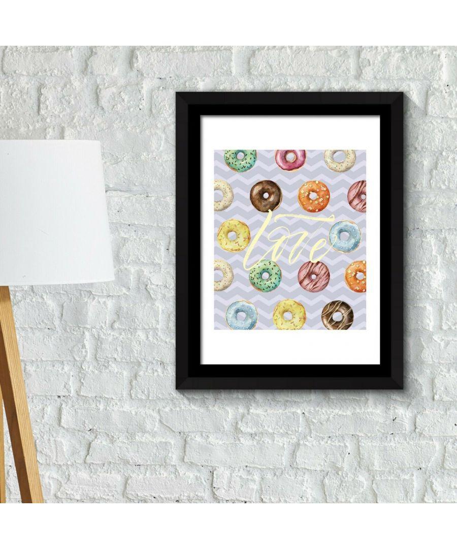 Image for Framed Art 2in1 Donut Desserts Poster Framed Photo, Framed Art