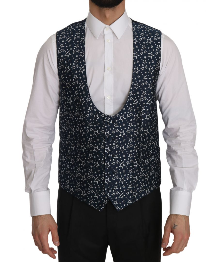 Image for Dolce & Gabbana Star Patterned Slim Fit Formal Vest