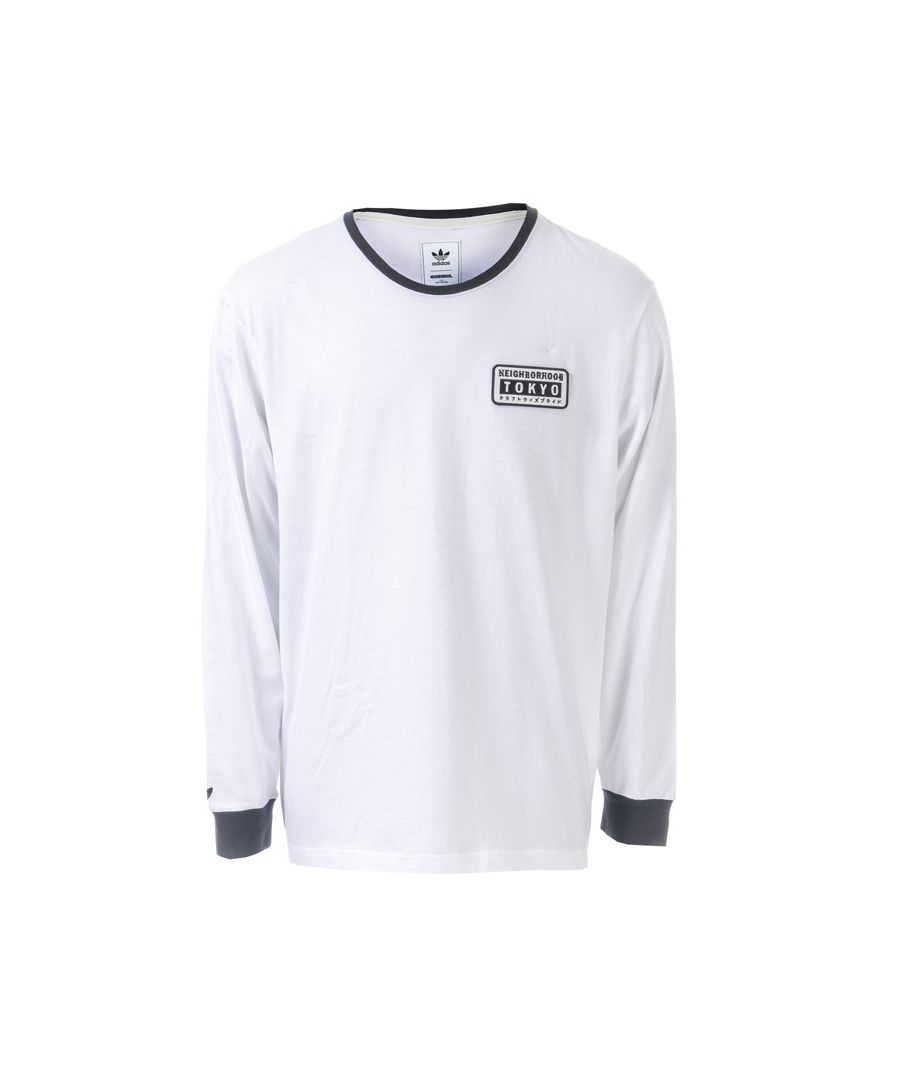 Image for Men's adidas Originals NEIGHBORHOOD Long Sleeve T-shirt in White