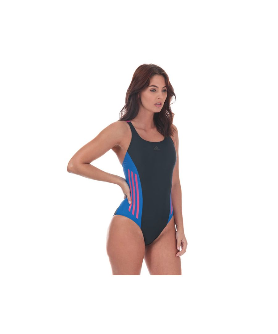 Image for Women's adidas Colourblock Swimsuit in Navy