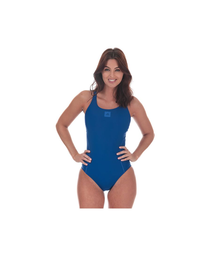 Image for Women's adidas Infinitex ECS Swimsuit in Royal Blue