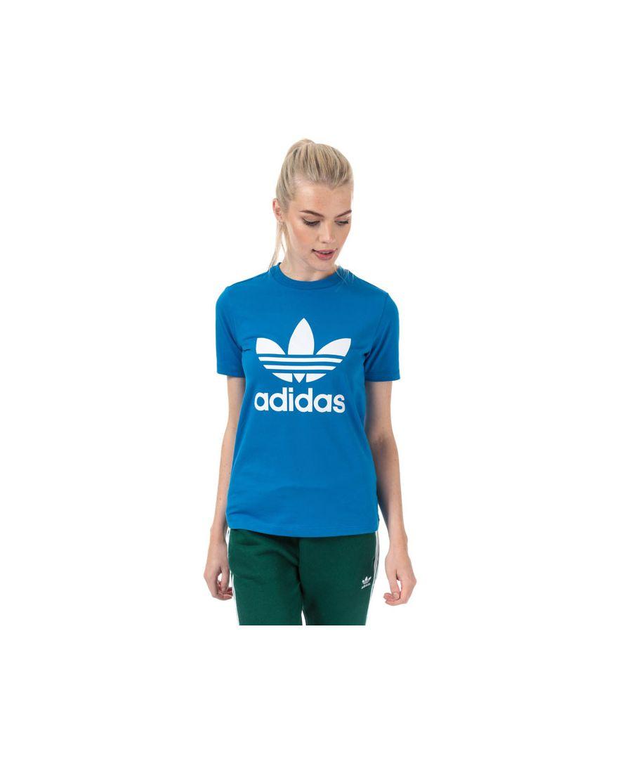 Image for Women's adidas Originals Trefoil T-Shirt in Blue