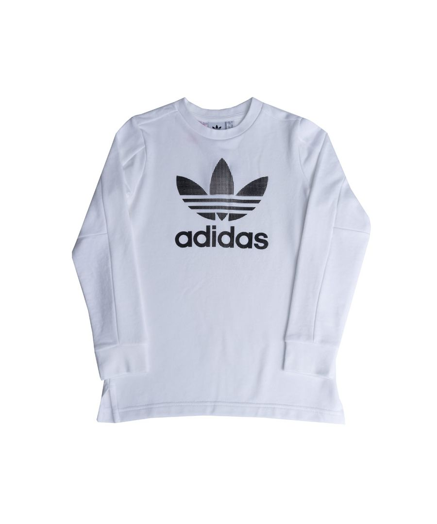 Image for Boy's adidas Originals Junior Trefoil Long Sleeve T-Shirt in White