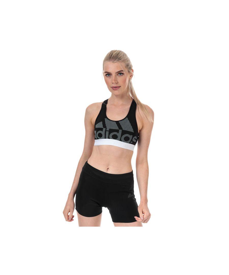 Image for Women's adidas Don't Rest Alphaskin Bra in Black-White