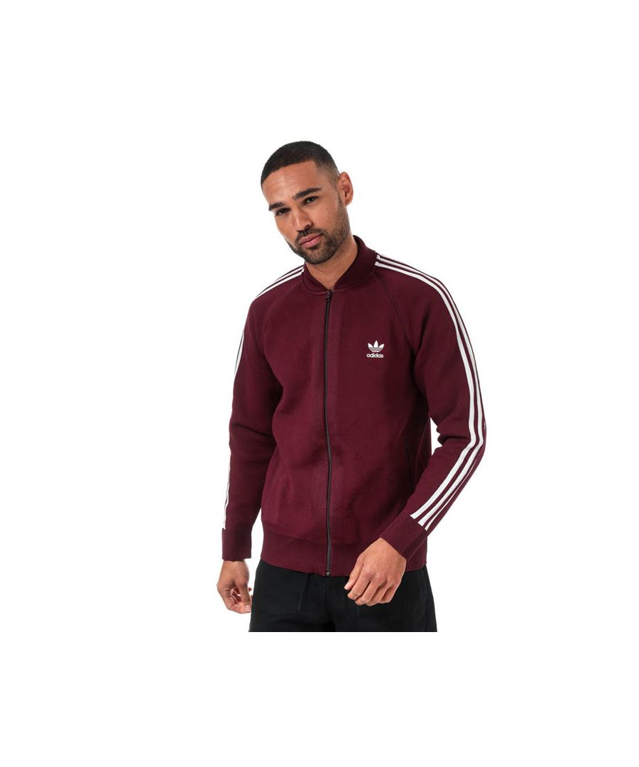 Image for Men's adidas Originals BF Knit Track Top in Burgundy