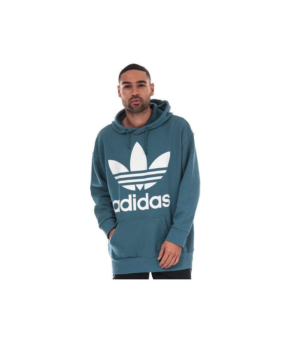 Image for Men's adidas Originals Oversize Trefoil Hoody in Blue