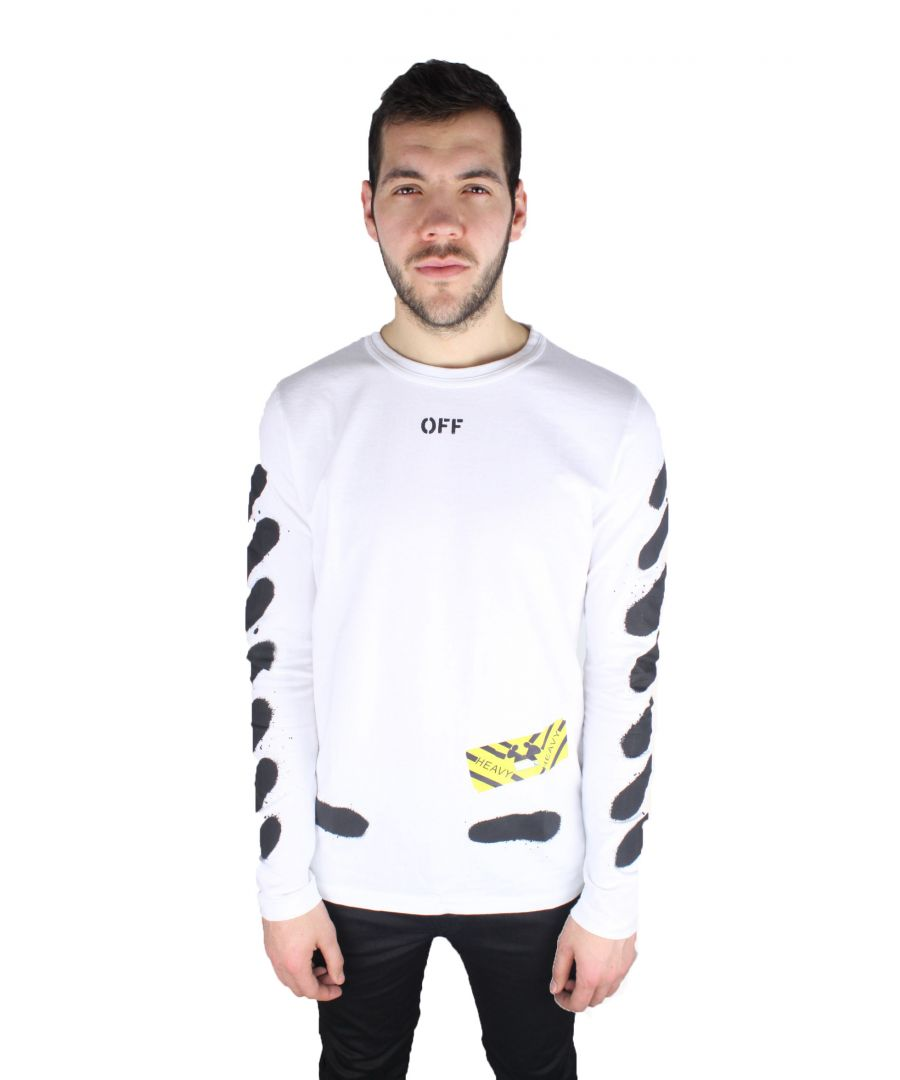Image for Off-White Diag Spray Long-Sleeved Tee OMAB001 S17185023 0110 T-Shirt
