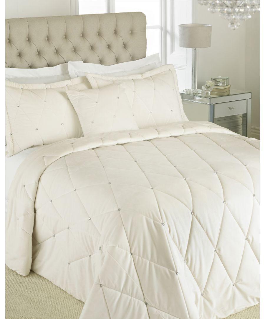 Image for New Diamante Bedspread Set Cre