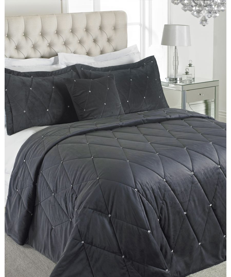 Image for New Diamante Bedspread Set Pwt
