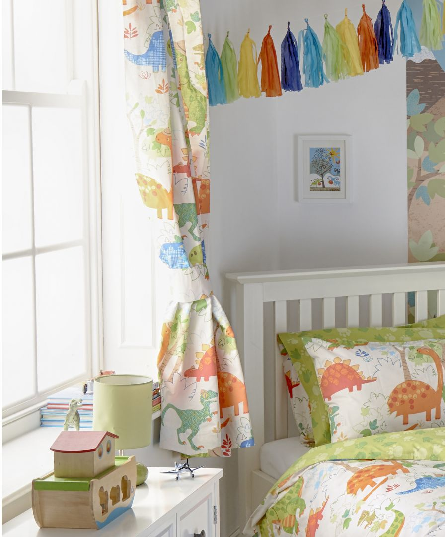 Image for Dinosaur Pencil Pleat Curtains Multi