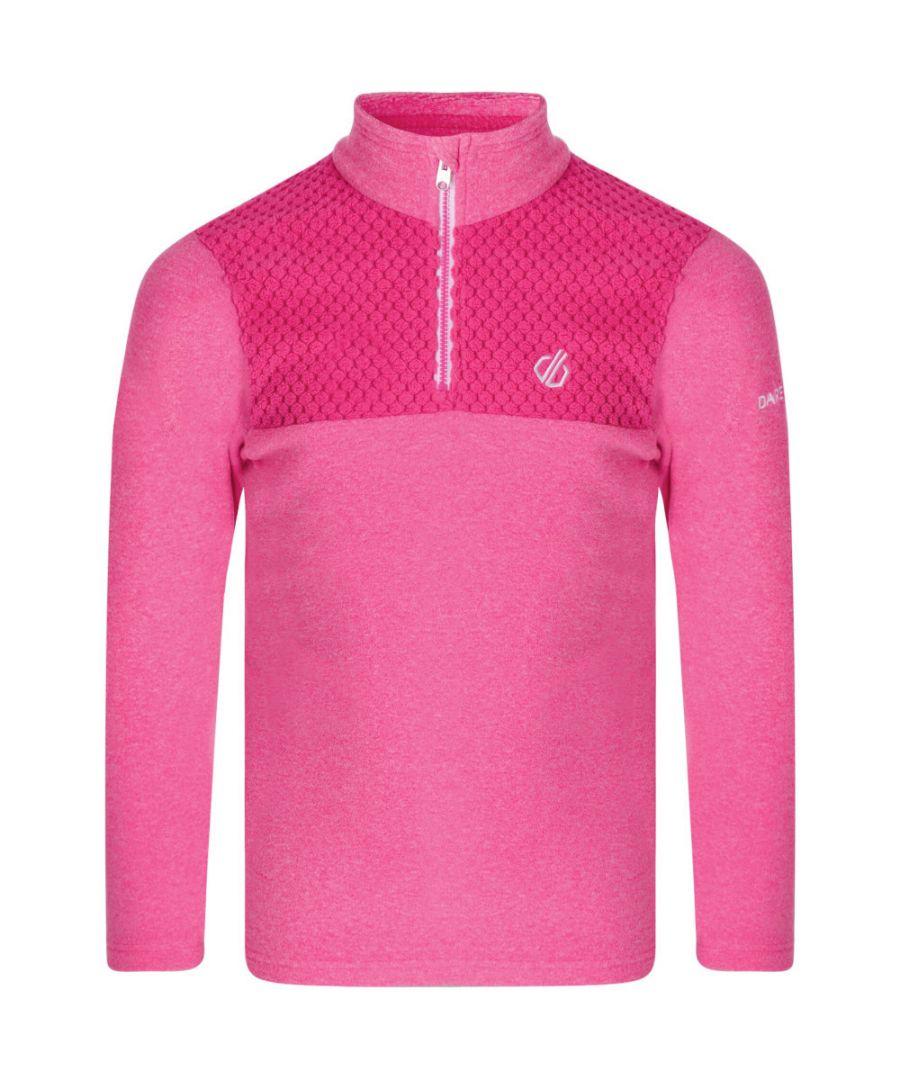 Image for Dare 2b Girls Mountfuse Half Zip Warm Fleece Jacket Sweater