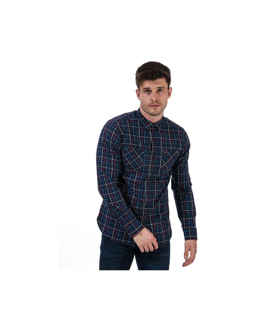 Image for Men's Tommy Hilfiger Checked Shirt in Blue