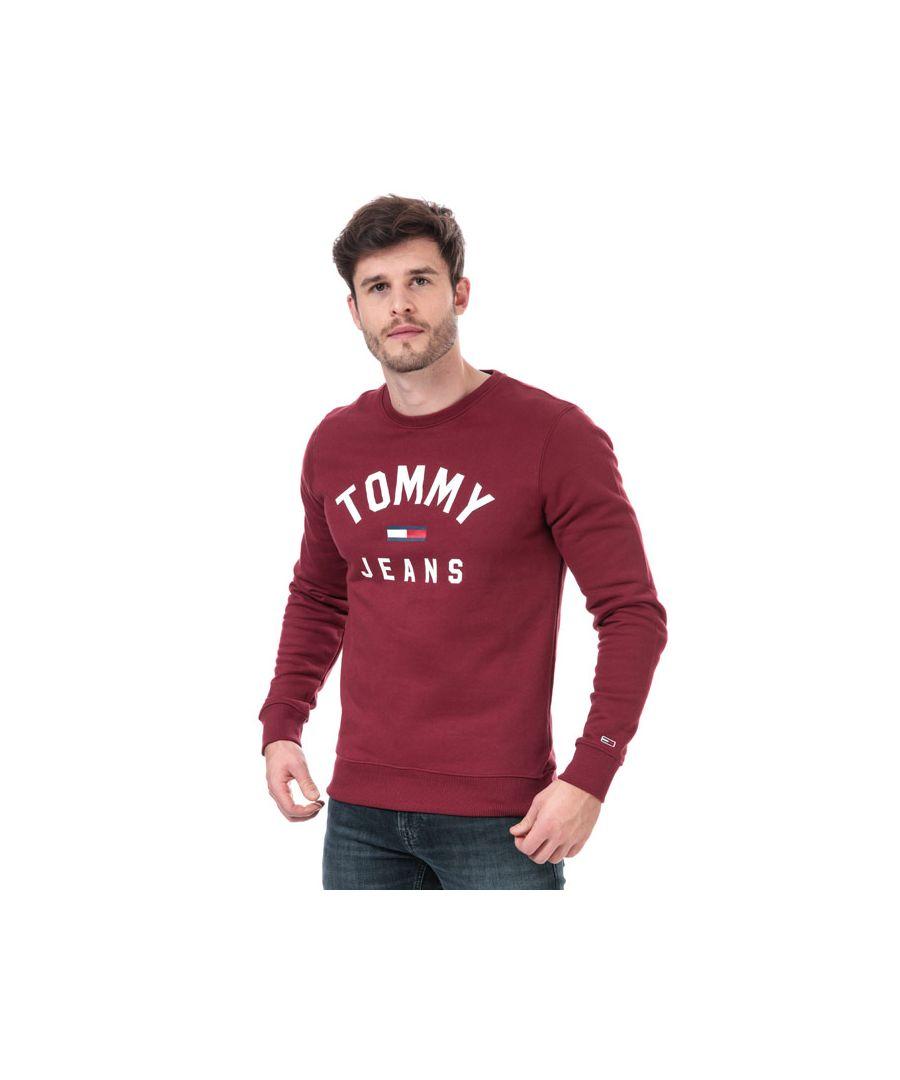 Image for Men's Tommy Hilfiger Essential Flag Sweatshirt in Burgundy