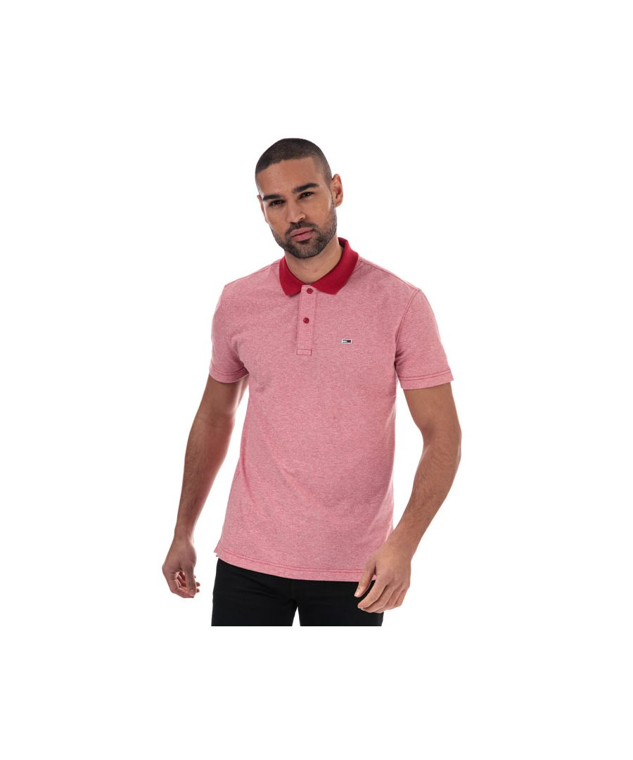 Image for Men's Tommy Hilfiger Textured Polo Shirt in Red