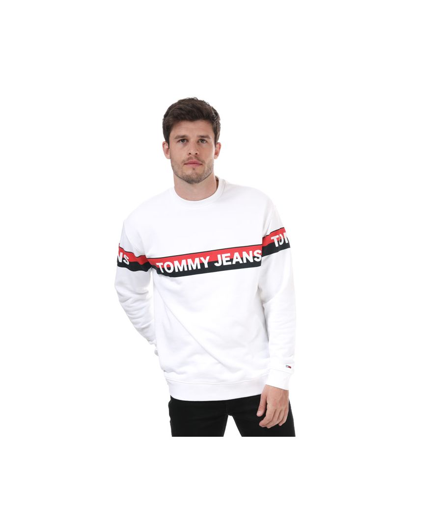 Image for Men's Tommy Hilfiger Band Logo Sweatshirt in White