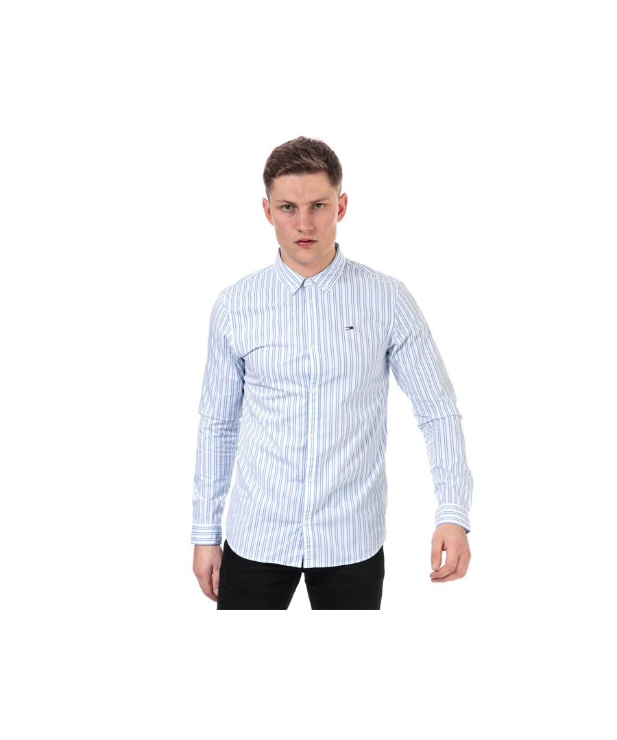 Image for Men's Tommy Hilfiger Stripe Stretch Poplin Shirt in White