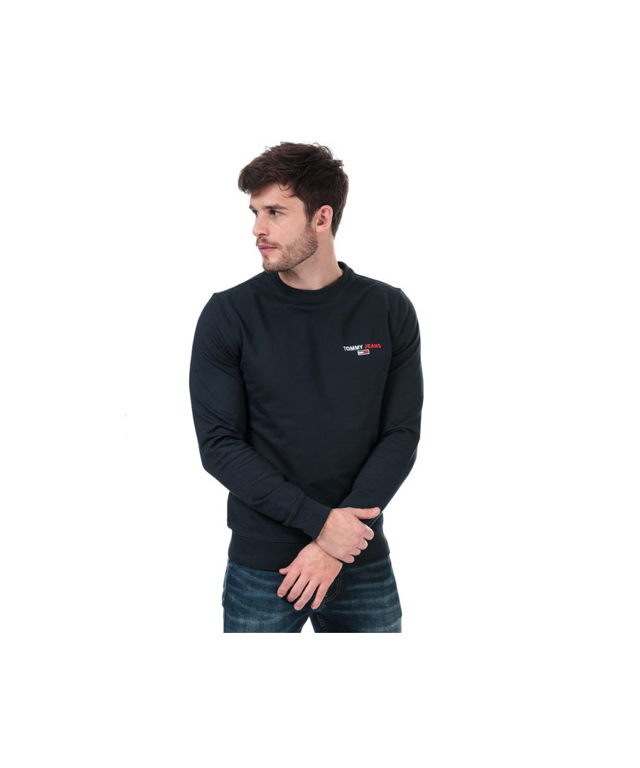 Image for Men's Tommy Hilfiger Tommy Chest Sweatshirt in Navy
