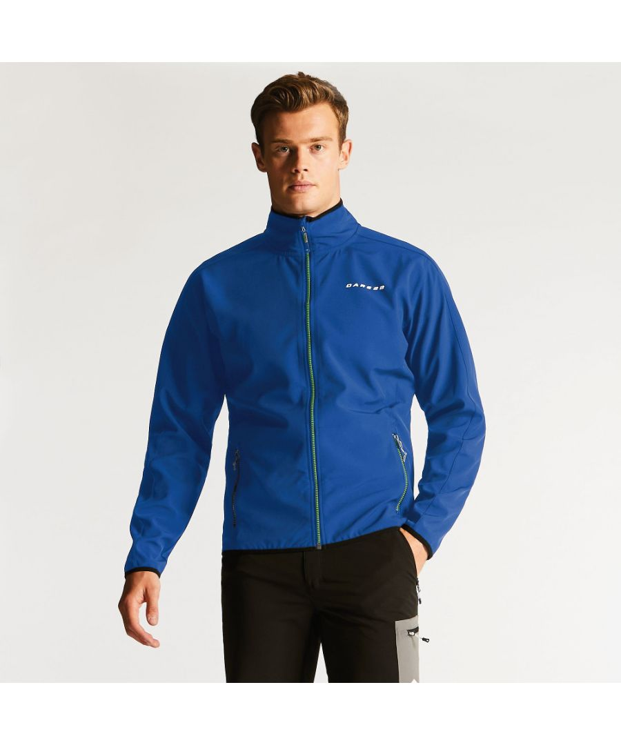 Image for Dare 2b Mens Allied Softshell Water Repellent Jersey Backed Jacket