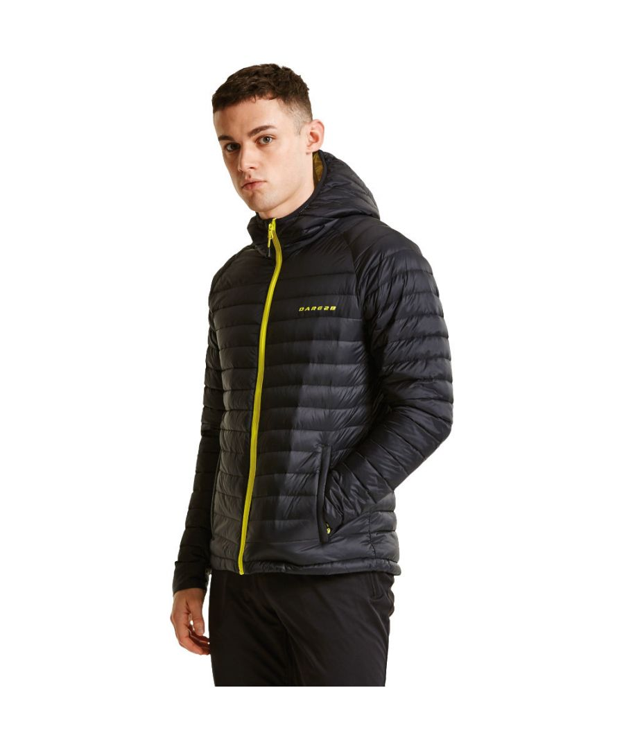 Image for Dare 2b Mens Phasedown Water Repellant Hooded Nylon Down Jacket Top
