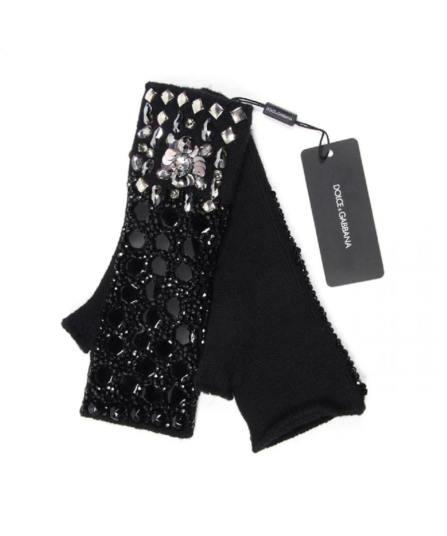 Image for Dolce & Gabbana ladies fingerless jewel glove FIG34K F49CR S8434