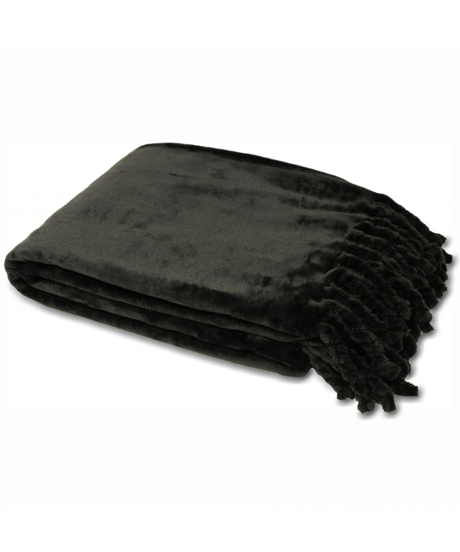 Image for Dorset Throw Black