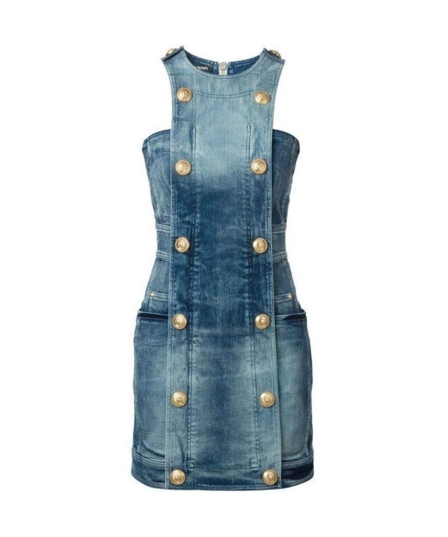 Image for Balmain Double-Breasted Denim Dress