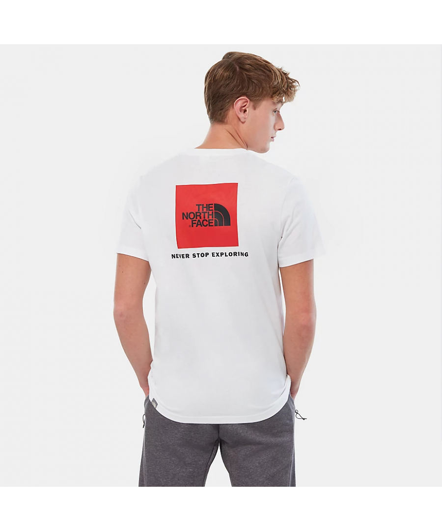 Image for The North Face Men's Redbox Tee, White/Red